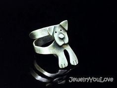 Sterling Silver Labrador Ring Buddy by JYLbyPeekaliu on Etsy