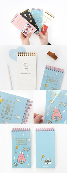 This is the perfect notebook to keep in your bag to use on the go! You can write your to-do lists, grocery lists, & random ideas~ Plus it has a clear cover with gold details for an extra special touch! How cute~