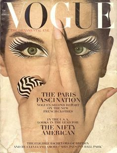 Vogue, September Veronica Hamel in zebra eye makeup by Pablo Manzoni, photo by Irving Penn, ring by David Webb. Vogue Vintage, Capas Vintage Da Vogue, Vintage Vogue Covers, French Vintage, Vogue Magazine Covers, Fashion Magazine Cover, Fashion Cover, Madonna Vogue, Diana Vreeland