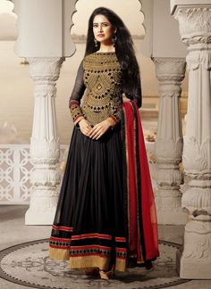 Adorning Georgette Ankle Length Anarkali Suit