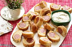 Kielbasa Bites with Creamy Mustard Dipping Sauce recipe