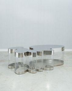 Guy de ROUGEMONT (Né en 1935) - Table basse dite Nuage - 2012