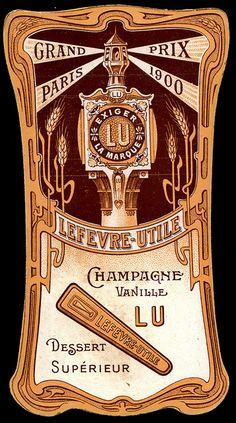 """Lefevre Utile """"Champagne Vanille"""" back by cigcardpix, via Flickr much vintage over 10000"""