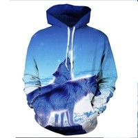 Wish | Couple Hoodies Animals Printed Fashion 3d Sweatshirt for Men Women Wolf Printed 3d Hoodies Spring Autumn Jacket