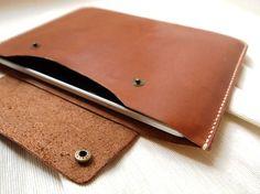 Personalizada iPad 2 / iPad caso aire cuero cosida a por HarLex