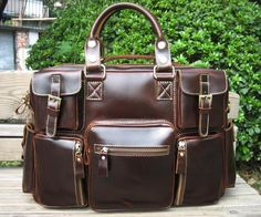 Gentlemen Handmade Leather Travel Bag / Messenger / Overnight Bag / Duffle Bag / Weekend Bag