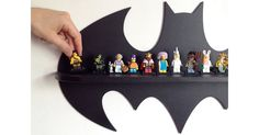 Etsy find of the day - Batman wooden shelf #Etsy, #Storage, #Superhero, #Wooden