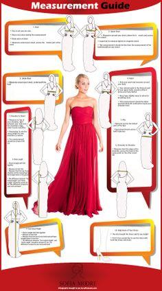 Measurement Guide For Formal Dresses #Infographics — Lightscap3s.com
