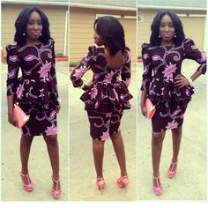 Creative Aso Ebi Short Skirt and Blouse Style http://www.dezangozone.com/2016/05/creative-aso-ebi-short-skirt-and-blouse.html