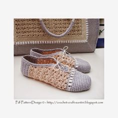 Sophie and Me: CROCHET SLIPPER/SHOES WITH MATCHING SHOPPING BAG! NEW PATTERN!