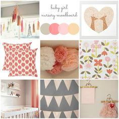 Fluff That Nest: BABY GIRL'S NURSERY MOODBOARD
