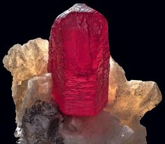 Cinnabar Quartz Dolomite   #Geology #GeologyPage #Mineral  Locality: Fenghuang Co. Xiangxi Autonomous Prefecture Hunan Province China  Dimensions: 21 mm x 20 mm x 25 mm Field of View: 21 mm  Photo Copyright  Kurt Story Photography  Geology Page www.geologypage.com