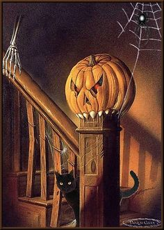 "The cover illustration for the Halloween horror novel ""The Manse"". I picked this up when I was a kid and read it every Halloween. It was a great book about a Haunted House run by the Jaycees that goes. Retro Halloween, Halloween Prop, Fröhliches Halloween, Adornos Halloween, Halloween Clipart, Halloween Prints, Halloween Pictures, Halloween Cards, Holidays Halloween"