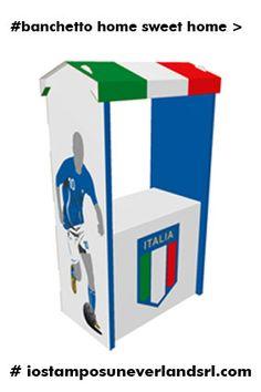 http://goo.gl/hLy8rm   Banchetto Home Sweet Home ___ Banchetto con Tettuccio Dimensioni:106x59x200 cm (LxLxH)4,50mm (spessore), Desk ideale per stand promozionali  #iostamposuneverlandsrlcom banchetti promozionali compra online !!!neverlandsrl.com