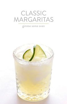 The Perfect Margarita Recipe -- made with 3 ingredients, and SO tasty! | gimmesomeoven.com
