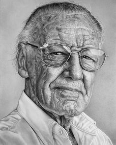 Realistic portrait drawings wip in 2019 marvel - stan lee гр Realistic Sketch, Realistic Pencil Drawings, Pencil Art Drawings, Art Drawings Sketches, Drawing Faces, Pencil Sketching, Art Illustrations, Pencil Portrait Drawing, Portrait Sketches