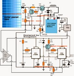 A simple yet effective solar panel MPPT charger circuit can be built using a couple of 555 ICs and a few other linear components. Electronic Circuit Projects, Electronic Engineering, Electronics Projects, Battery Charger Circuit, Solar Panel Charger, Dc Circuit, Circuit Diagram, Solar Panel Kits, Solar Panels