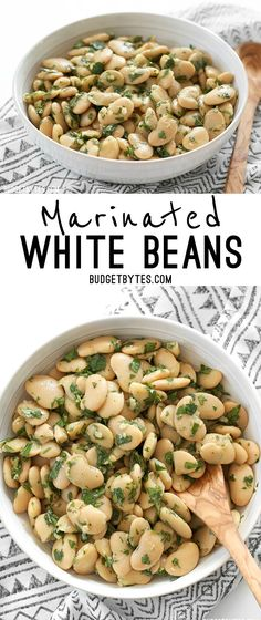 Marinated White Beans are a fast, easy, and versatile side dish that comes together in minutes. @budgetbytes