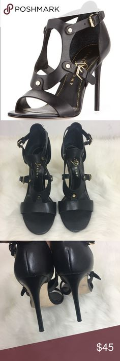 Ivanka Trump Madrid Sandal The sandals are made of leather. They are in excellent used condition. They wear comfortably. No defects. Ivanka Trump Shoes Heels