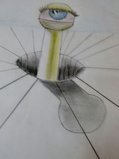 3 D Alien Eye drawing made by me