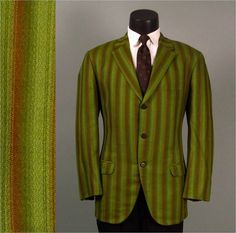 Vintage Mens Sport Coat Jacket 1960s Green and by jauntyrooster, $95.00