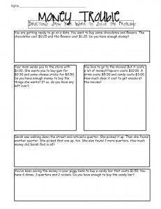 Money Word Problems - set of 4 classroom activities your kids can do ...