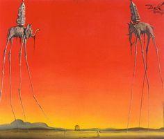 Salvador Dali Surrealism art Salvador Dali in his Studio A sample of a Howdah. Salvador Dali Gemälde, Salvador Dali Paintings, Art Spiegelman, Elephant Tattoos, Oil Painting Reproductions, Surreal Art, Love Art, Art Photography, Sculpture