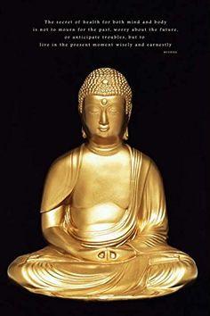 Golden Buddha Zen Quotes Spiritual Religious Motivational Poster 24 x 36 inches -- ** AMAZON BEST BUY **  #BuddhaQuote