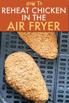 It's so easy to reheat fried chicken in the air fryer. Enjoy fried chicken leftovers that are just as good as they were the first time without heating your oven. No soggy microwaved chicken here! This… Air Fryer Recipes Vegan, Air Fryer Dinner Recipes, Air Fryer Healthy, Lunch Recipes, Chicken Leftovers, Air Fryer Cooking Times, Frozen Chicken Wings, Easy Mac And Cheese