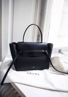 Céline navy belt knot tote bag. Great structure. #bigadditions
