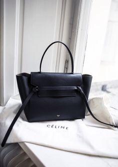 Céline navy belt knot tote bag. Great structure. #bigadditions