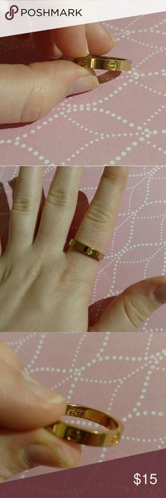Love Ring/Screw Ring - Iconic and timeless design! Gold screw design ring, size 10. - Price negotiable! - Fast shipping! - Reliable, top 10% seller :) unknown Jewelry Rings