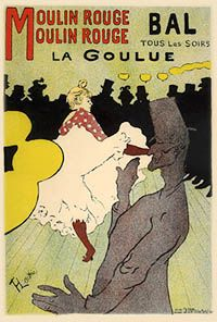"""8. The """"Maîtres de l'Affiche  Reputable artists were willing to design posters due to the medium's growing prestige. These artistic prints were so popular that they were stolen off of walls almost as soon as they were hung. Cheret organized the first group exhibition of posters in 1884 and two years later published the first book on poster art."""