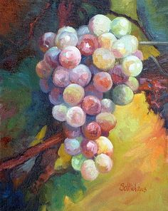 Art by Saltiel: Grapes and Flowers