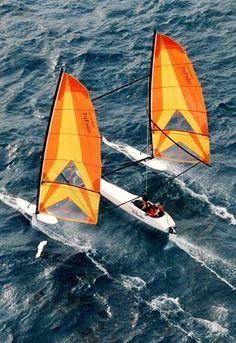 Hobie TriFoiler high speed sailing