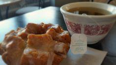 Tea and apple spice doughnut