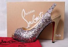 Glitter Louboutins?! Yes please! Santa, bring me two ('cause walking around in one shoe is weird).