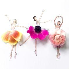 grafika flowers, art, and ballet Deco Floral, Art Floral, Flower Petals, Flower Art, Flowers, Flower Dance, Floral Fashion, Fashion Art, Fashion Trends