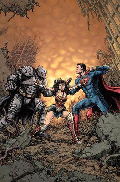 As capas variantes de março da DC para celebrar a estreia de BATMAN vs SUPERMAN - Actions & Comics 2