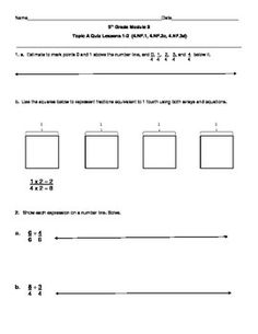 5th Grade EngageNY/Eureka Math Module 5 Topic C Quiz ...