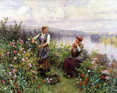 Daniel Ridgway Knight ~ On the Terrace at Rolleboise