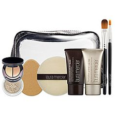 Laura Mercier Oil Free Flawless Face Kit - Oil Free Flawless Face Kit   Sand  #sephora #lauramercier  MY GO TO FACE MAKEUP ROUTINE. COVERAGE IS LIGHT AND NATURAL BUT WILL CONCEAL IT ALL. THE SETTING POWDER IS AMAZING! JUST ORDERED THIS KIT AGAIN.