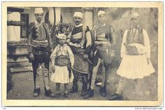 Kostume burrash. Albanian men's costumes. Costumes masculins albanais. Vestidos masculinos albaneses.