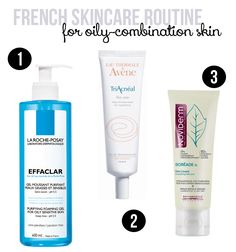French Pharmacy Skincare Routine for Oily-Combination Skin. Good news - you can buy most of these products in America as well!