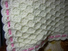 This pattern was inspired by a knitted baby blanket that I saw displayed at my local yarn shop a while ago.I immediately knew that Ineede...