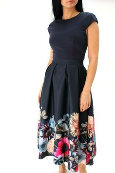 23753c160230a3 Ted Baker Faunia Floral Midi Chiffon Cocktail Party Dress Sweetheart 6 to  14 New  TedBaker