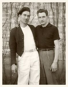 Back in the sepia days, men could be gay if one partner wore a beret and smoked French cigarettes...