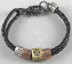 Bangle leather bracelet buckle bracelet men by braceletbanglecase, $8.00