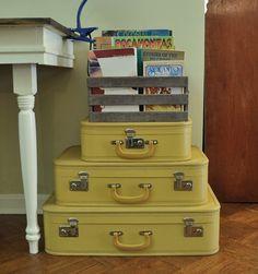Vintage Suitcases, @Cha Cha @The Heartfelt Home