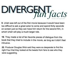 Divergent I still think that they should have Uriah in it! Divergent Hunger Games, Divergent Fandom, Divergent Trilogy, Divergent Insurgent Allegiant, Tfios, Divergent Facts, Uriah, Erudite, Veronica Roth